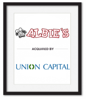 Albie's acquired by Union Capital